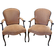Pair Of Georgian Style English Upholstered Armchairs