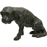 Nineteenth Century Bronze Dog Sculpture