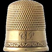 Antique 10K Gold Thimble