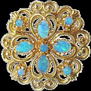 Vintage 14K Gold Opal Pin / Pendant