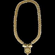 Victorian Tri Color Gold Filled Pendant Necklace