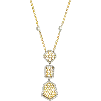 Charriol Geneve 18K Gold Articulated Diamond Necklace