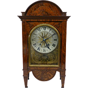 Nineteenth Century Inlaid Mahogany Mantel Clock