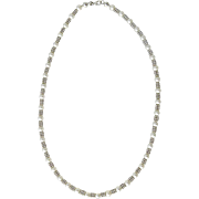 Vintage Italian 14K White Gold Cultured Pearl Necklace