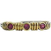 "Lagos ""Caviar"" 18K & Sterling Ruby Band / Ring"