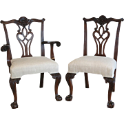 Set Of Six 19th Century Chippendale Style Mahogany Dining Chairs