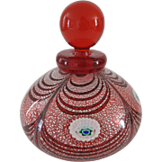 Franco Moretti Murano Art Glass Signed Perfume Bottle