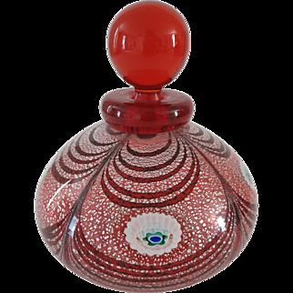 Franco Moretti Murano Art Glass Signed Perfume Bottle