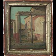 """Onorato Carlandi """" Capriccio """" Oil On Canvas Italian 19th Century"""