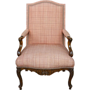 18th Century French Regence Period Walnut Bergere