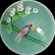 1982 Orient & Flume Studio Art Glass Parrot Paperweight