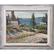 "Frank Spradling ""Hill Top"" Spruce Head Maine Oil On Canvas"