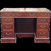 George III Style Mahogany Kneehole Desk 1900