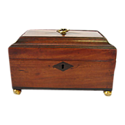 English Regency Mahogany Tea Caddy Box C 1820