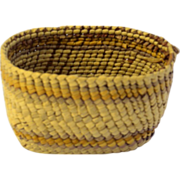 Vintage Amercian Makah  Native Indian Miniature Basket