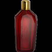 Georgian Dutch 14kt Gold /Ruby Glass Scent Bottle C1820