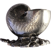 Victorian  Spoon-Warmer Figural  Nautilus Shell Engraved