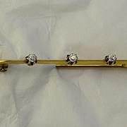 Antique 18kt yellow gold Diamond Brooch/Pin  Old Mine cut Diamonds  Appraisal