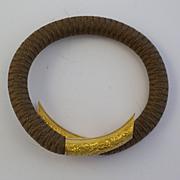 Antique Mourning Bracelet 18kt Gold Woven Hair
