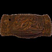 18th Century Georgian French Folk Art carved Coquilla Nut Snuff Box C 1780