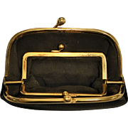 Tiffany 14 kt Gold Leather Purse double Change Purse signed Tiffany and Company 1940's