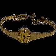 Birks 14 kt Gold Ladies Wristwatch Geneva Solid 15 kt Gold Band 1970's
