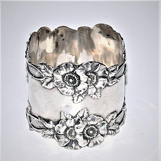 Antique Unger Brothers Sterling Napkin Ring American Large