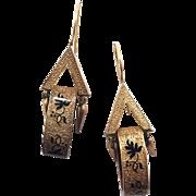 Victorian Tallie D'Eperine Enamel Bell Shaped Earrings