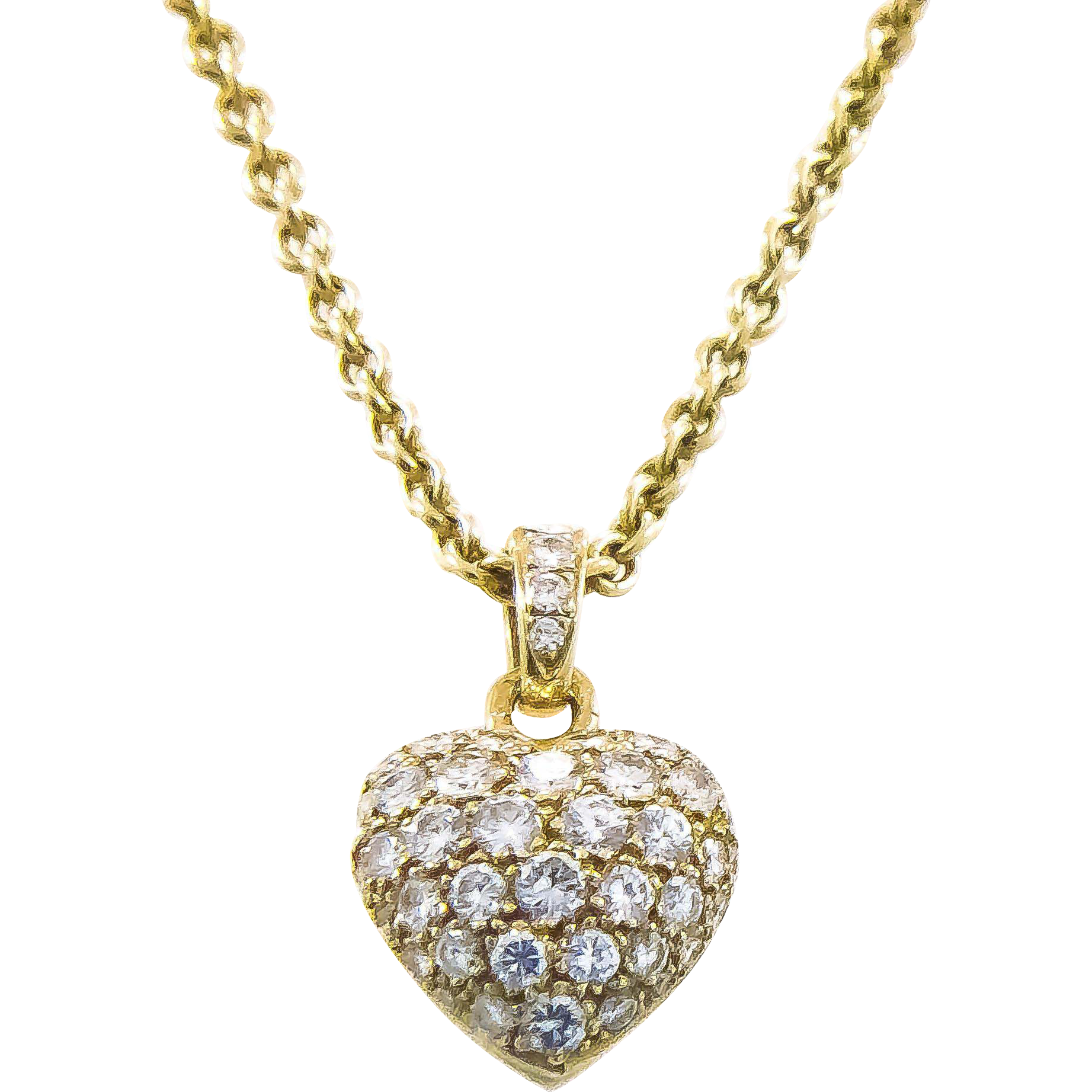 Best of tiffany diamond heart pendant jewellrys website platinum tiffany diamond heart estate necklace from aloadofball Image collections
