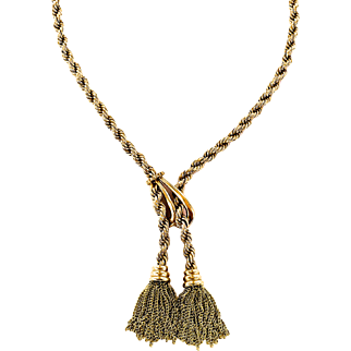 Erte R Necklace in 18K