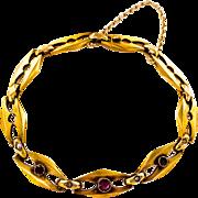 18K Victorian Ruby Link Bracelet