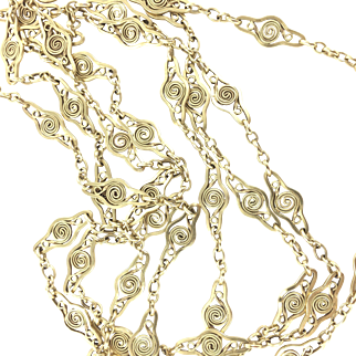 18K French Victorian Long Chain