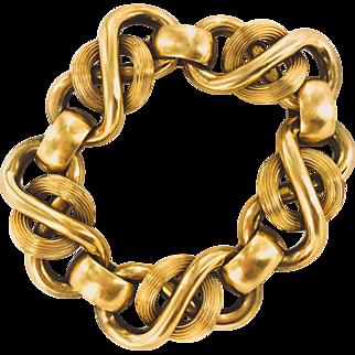 18K Infinity Loop Link Retro Bracelet
