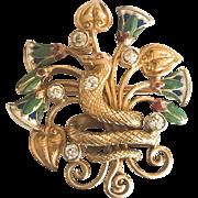 18K Art Nouveau Egyptian Revival Watch Pin