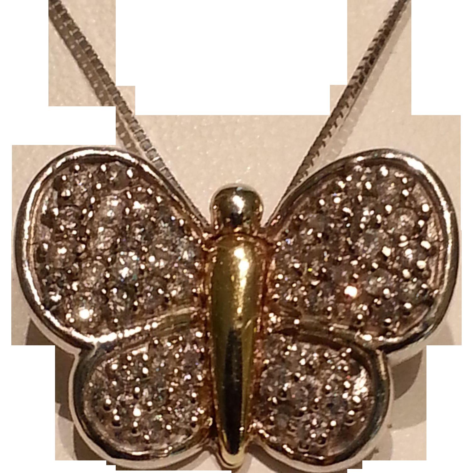 Vintage Butterfly Necklace 78