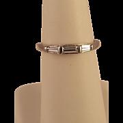 Classic 900 Platinum Baguette Diamond Wedding Ring