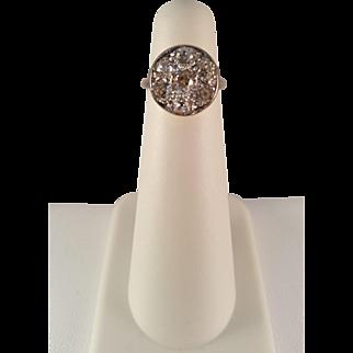 Victorian 900 Platinum Over Gold Diamond Ring