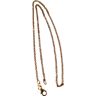 "14K Rose Gold Cable Link 16"" Chain"