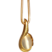 Mystical 14K Cat's Eye Moonstone Necklace