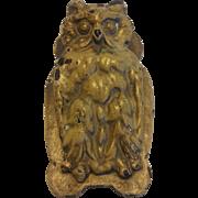Cast Iron Owl Door Knocker Desk Clip