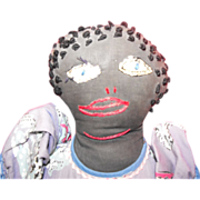 Black Mammy Doll Folk Art Cloth Rag