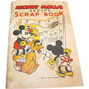 Mickey Mouse Recipe Scrap Book by Walt Disney