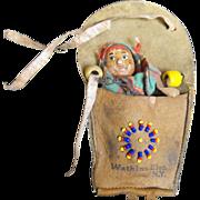 Skookum Native American Souvenir Doll Papoose Baby