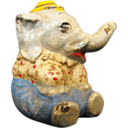 Hubley Cast Iron Circus Elephant Paperweight