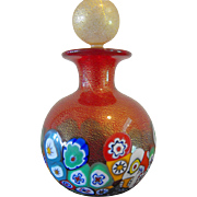 Gorgeous Red Murano Italian Signed Perfume Bottle