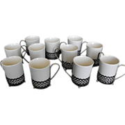 Wedgwood Enoch Tunstall England Set of Demitasse Cups