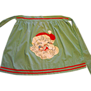 Santa Claus Embroidery Christmas Apron