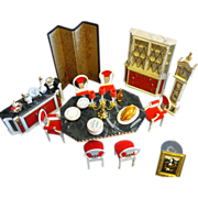 Ideal Petite Princess Fantasy Doll Dining Room Furniture