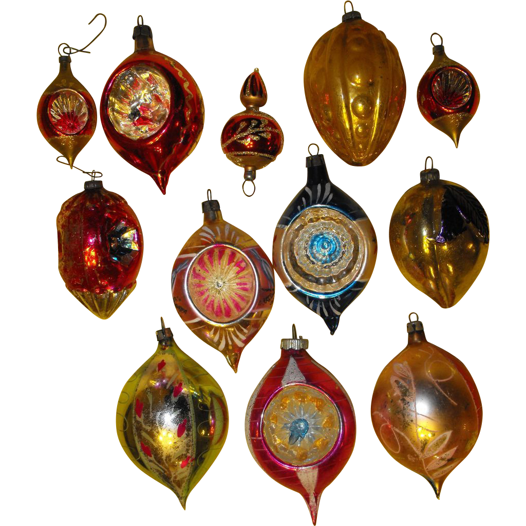 Dozen vintage glass ornaments poland christmas sold on for Christmas ornaments sale