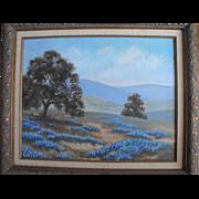 Texas Bluebonnet Oil Painting  Landscape